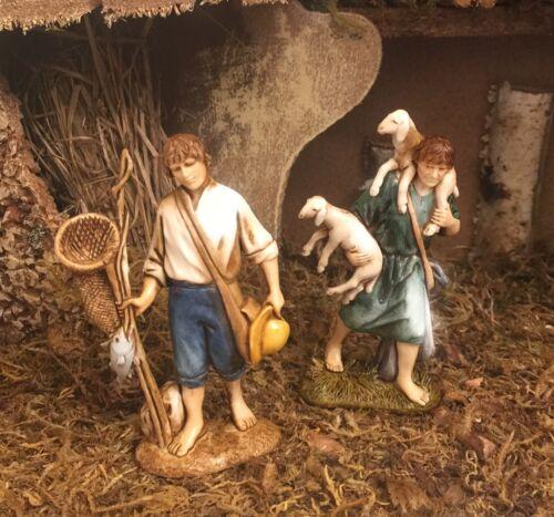 Nativity Scene Shepherd Fisherman Figurines Presepio Figuras Pesebres Nacimiento