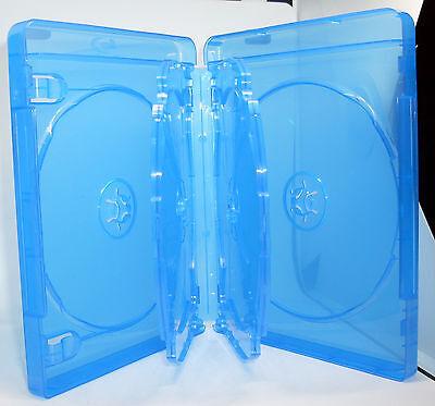 5 Blu Ray Hüllen Sechsfach 6fach 6-fach blau Blu-Rays 6er Breite 22mm 2,2cm Neu