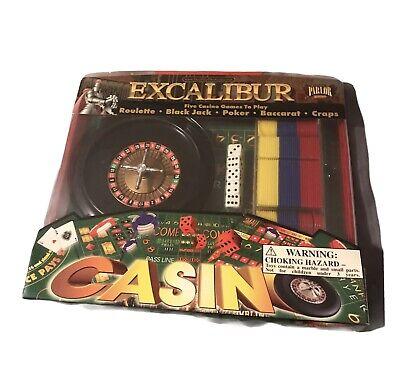 New Excalibur Casino Roulette 6 in 1 Casino Games: Craps, Poker, Black Jack,