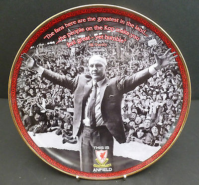 "DANBURY MINT 8"" LIVERPOOL FOOTBALL CLUB PLATE 'THE GREATEST IN THE LAND' ANFIELD"