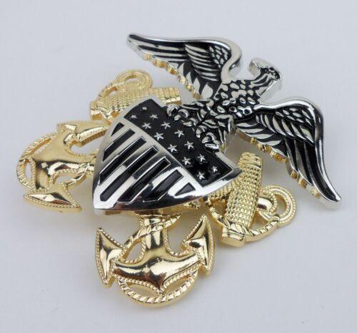 US USN Navy Cap Hat Badge Pin Alloy