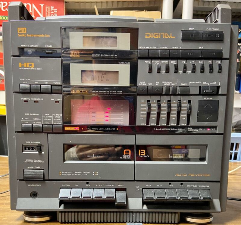 Vintage Seiko MDL- 1000 Stereo High Performance  Music System CD-Cassette-Tuner+