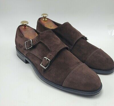 DOUCAL's Hand Made Brown Suede Double Monks sz 9.5 US / 42 EUR MENS