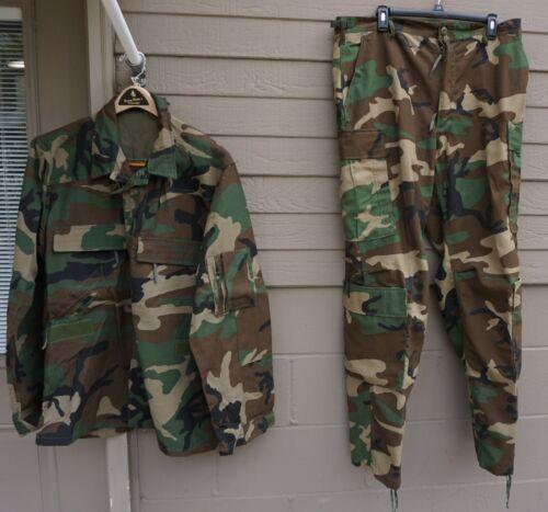 Rare Army woodland IABDU 2 piece flight uniform Large Reg., MINT  (Lkr 4)
