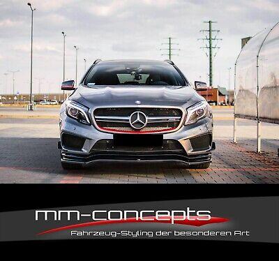 Cup Spoilerlippe SCHWARZ für Mercedes Benz GLA 45 AMG SUV X156 Spoilerschwert