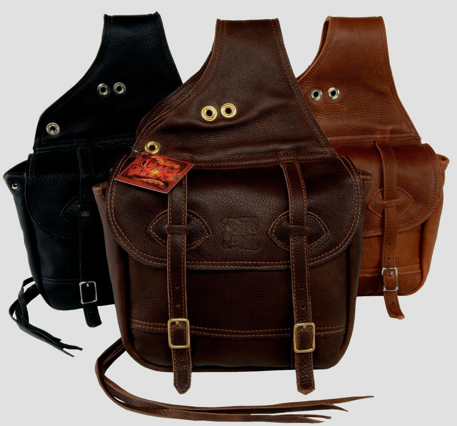 OLDE TIME SADDLE BAGS™  Horse Leather Saddlebags  - Tucker