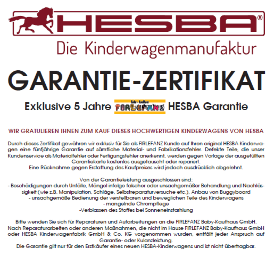 NEU - HESBA Corrado LeFleur 2020 Kombi-Kinderwagen - FIRLEFANZ in Berlin