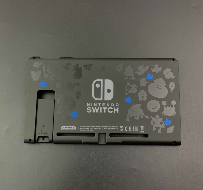 New Dragon Quest For Nintendo Switch Back Housing Cover Plate Shell Replacement