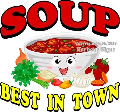 Soup Decal Choose Your Size Food Truck Sign Concession Vinyl Sticker