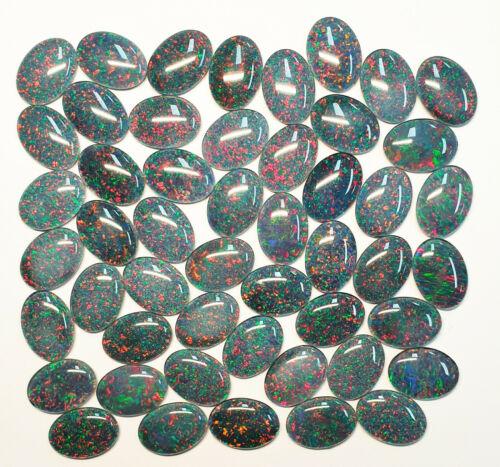 10 Australian 18x13 mm Oval Opal Triplets Made in Australia from Natural Opal