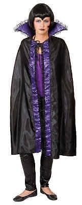 Umhang in schwarz-lila zum Damen Kostüm Halloween Karneval Fasching  (Lila Umhang Kostüme)