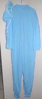 mens BLUE FLEECE BABY SLEEPER BONNET HALLOWEEN COSTUME 2 PC SUPER COND CUTE @@ - Cute Mens Costumes