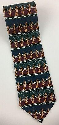 THE DISNEY STORE TIGGER GOLF Men's Classic Tie Silk Multi-Color!