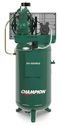 Champion VRV5-8 5hp,1ph 80 gallon 2 stage USA MADE, Best Seller (Best 2 Gallon Air Compressor)