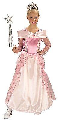 Pink Princess Costume Halloween Fancy Dress Gown Girls Kids Childs S M NEW