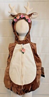 Baby Deer Fawn Bambi Boutique Costume Infant Toddler Soft Antlers Doe Animal NEW - Baby Animal Costumes