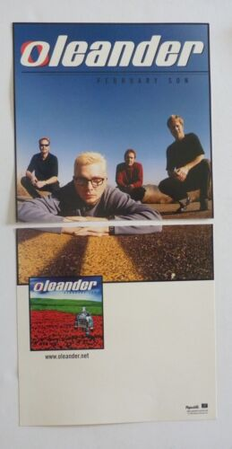 Oleander February Son 1999 LP Record Photo Flat 12x24 Poster