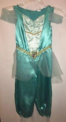 Disney Princess Size 3T-4T Jasmine From Alladin Costume One Piece Pantsuit](Jasmine Costume Teen)