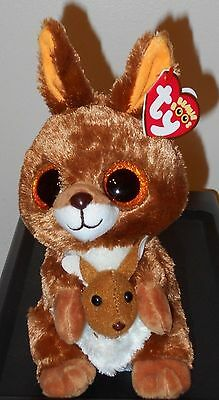 "Ty Beanie Boos ~ KIPPER the 6"" Kangaroo ~ Stuffed Plush Toy (NEW) 2017 ~ IN HAND"