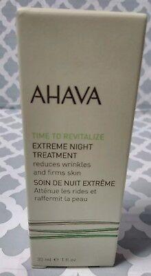 NEW Ahava Time To Revitalize Extreme Night Treatment 1oz Womens Skincare