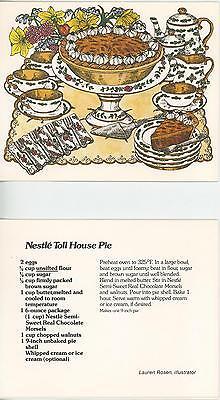 1 TEA SERVICE TEA CUP POT FLOWERS DAFFODILS 1 BAKING PIE RECIPE 1 FOLK ART CARD (Flower Pot Recipe)