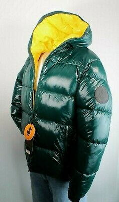 SAVE THE DUCK Luck Size XXL Green Quilted Hooded Men's Puffer Jacket MSRP $298