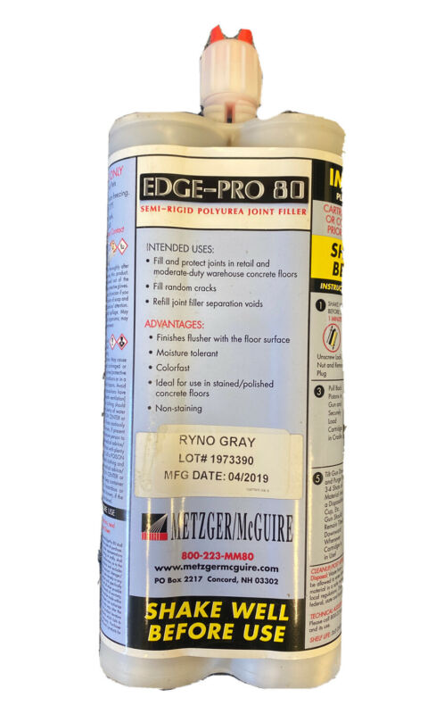 Metzger/ McGuire, Joint Filler, Edge Pro 80, 600 ML, Ryno Gray NEW
