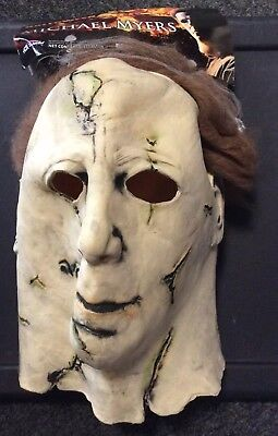 Michael Myers Mask For Kids (HALLOWEEN MICHAEL MYERS LONG NECK YOUTH KIDS MASK NEW TAGS BEST ON)