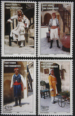 Cyprus, Turkish Cypriot Posts 2002 Traditional Costumes Set SG555/8 MNH/UM