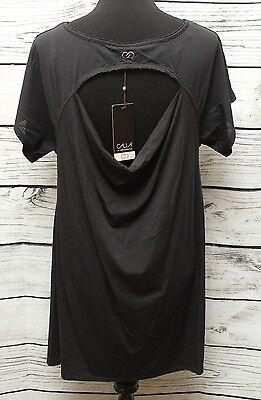 Calia By Carrie Underwood Nwt Mesh Detail Open Back Dress Black  Caviar Sz M