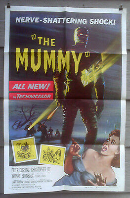 THE MUMMY ORIG 1959 NEAR MINT HAMMER HORROR ONE-SHEET