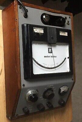 Antique Vintage Honeywell Meter Metal Frame Wood Case. Milliamps Ohms