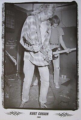 """NIRVANA """"KURT COBAIN 1989 - YOUNG KURT PLAYING GUITAR"""" POSTER FROM ASIA"""