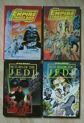 4 1980'S VINTAGE STAR WARS EMPIRE STRIKES BACK RETURN OF THE JEDI ANNUALS BOOKS