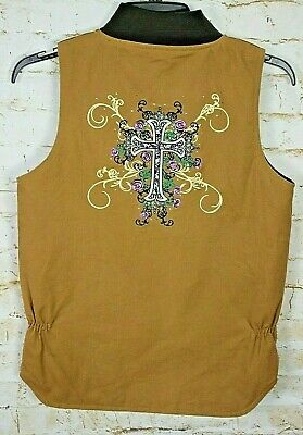 Brown Cowgirl Vest (Cowgirl Hardware Medium Brown Full Zip Quilted Lined Canvas Vest)