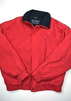 Abercrombie & Fitch Country Clothes Fleece Lined Jacket Mens Size L Red vintage