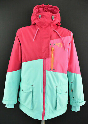 KARI TRAA Womens Ski Jacket Outdoor Hooded Insulated Padded Coat Lined Size S