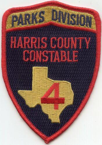 HARRIS COUNTY TEXAS TX Precinct 4 PARK POLICE CONSTABLE sheriff police PATCH