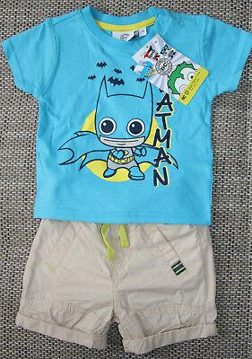 Und 1 Jungen Shorts (Neu! Set aus T-Shirt und Shorts von Ergee,  Gr.74,1Blau/Beige, Baumwolle.)
