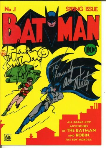 Batman #1 Masterpiece Edition - Signed by Adam West & Burt Ward JSA Certified