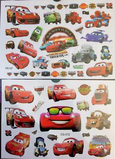 New Disney Cars Kids Temporary Tattoo