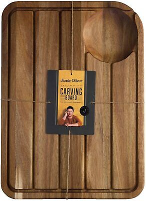 Jamie Oliver Meat Carving Board   Extra Large   Carved Grooves with Juice Well