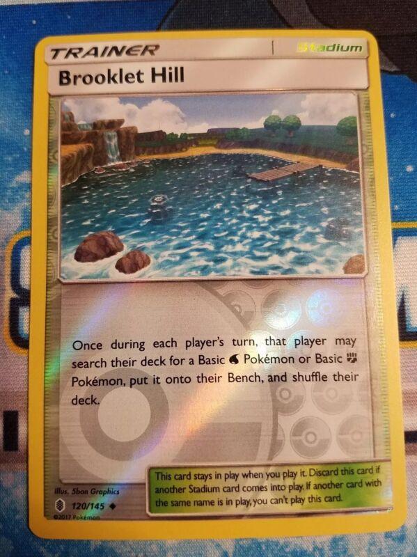 x4 Brooklet Hill Uncommon 120//145 Reverse Holo Pokemon SM2 Guardians Ris