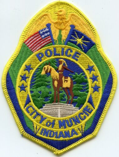 MUNCIE INDIANA IN Indian on Horse POLICE PATCH