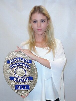 Bakersfield Police (Officer) Department Officer's Badge all Metal Sign with your
