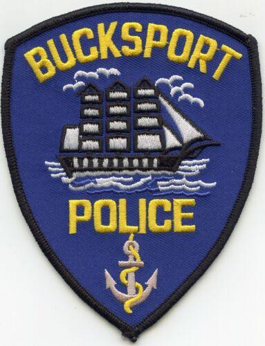 BUCKSPORT MAINE ME sailing ship POLICE PATCH