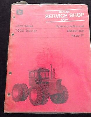 Genuine 1971 John Deere 7020 Tractor Operators Manual Mint Sealed