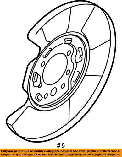nissan oem rear brake backing plate splash dust shield 44020eg010 ebay 1958 Ford VIN Plate seller payment information