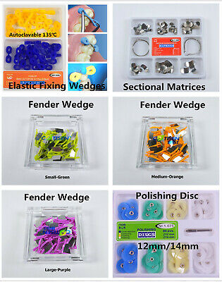 Dental Elastic Fixing Fender Wedges Dam Sectional Contoured Matrices Matrix Band