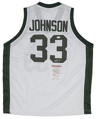 Magic Johnson signed Michigan State Jersey signiert JSA witnessed COA Auto NBA